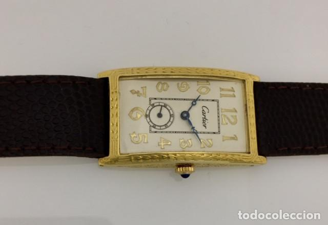 Relojes - Cartier: CARTIER EPOCA-ART-DECO-PLATA PLAQUÈ ORO 18KTS. - Foto 4 - 189974082