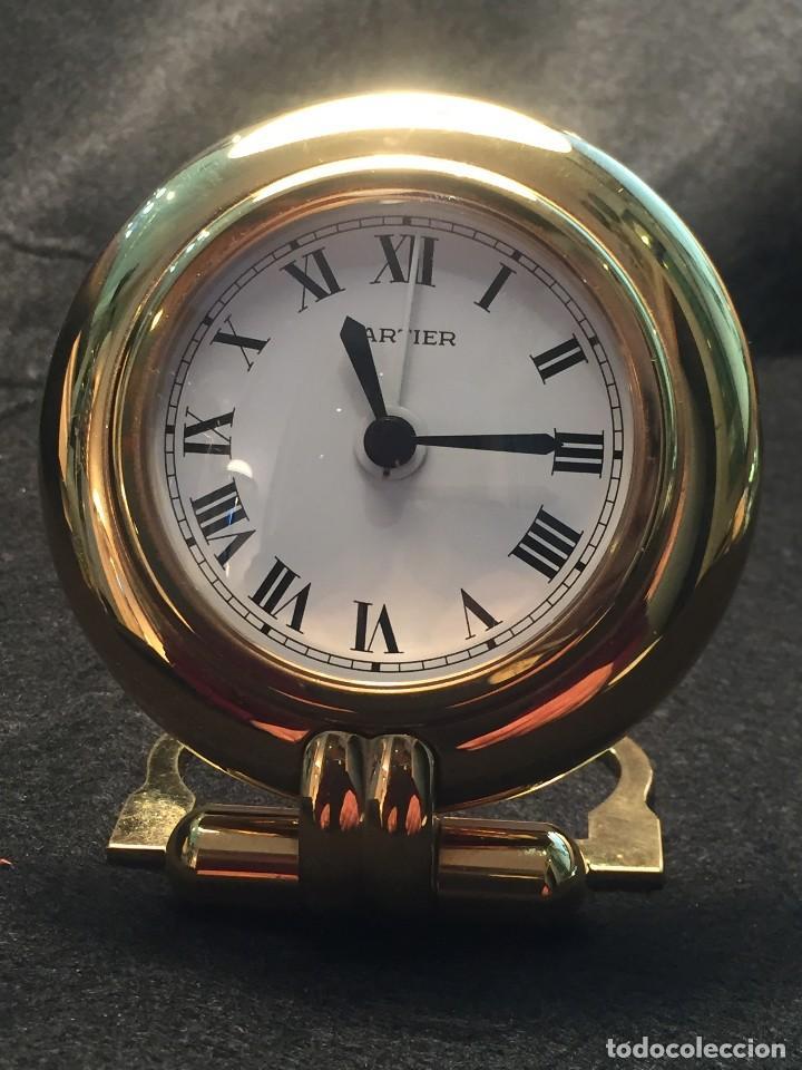 RELOJ DESPERTADOR DE VIAJE CARTIER A QUARTZ MODELO COLISEE DEL AÑO 2000 (Relojes - Relojes Actuales - Cartier)