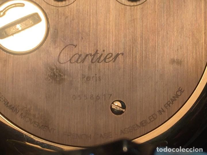 Relojes - Cartier: RELOJ DESPERTADOR DE VIAJE CARTIER A QUARTZ MODELO COLISEE DEL AÑO 2000 - Foto 5 - 192960611