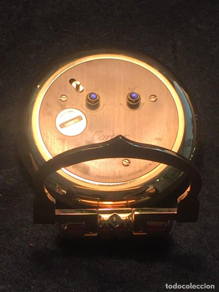 Relojes - Cartier: RELOJ DESPERTADOR DE VIAJE CARTIER A QUARTZ MODELO COLISEE DEL AÑO 2000 - Foto 8 - 192960611