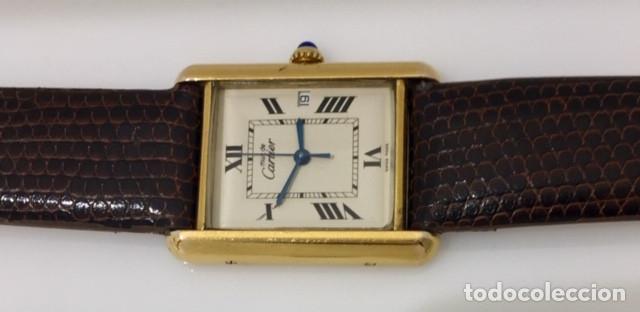 Relojes - Cartier: CARTIER TANK PLAQUÈ ORO 18KT -UNISEX ¡¡COMO NUEVO!! - Foto 2 - 198578313
