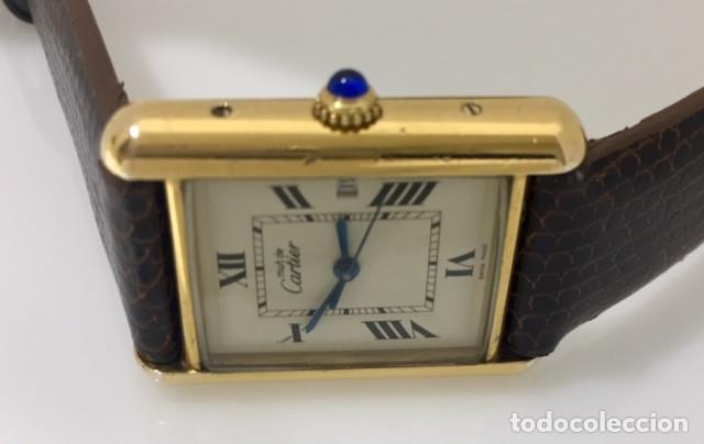 Relojes - Cartier: CARTIER TANK PLAQUÈ ORO 18KT -UNISEX ¡¡COMO NUEVO!! - Foto 3 - 198578313