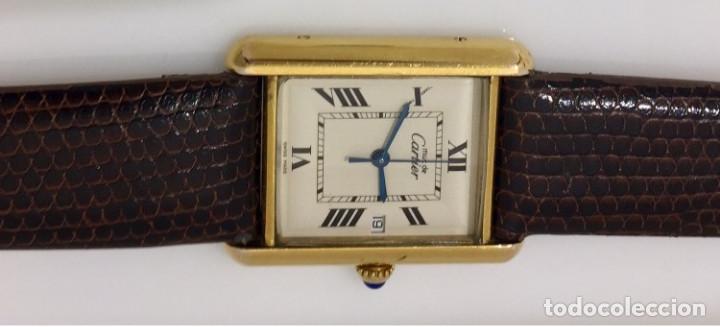 Relojes - Cartier: CARTIER TANK PLAQUÈ ORO 18KT -UNISEX ¡¡COMO NUEVO!! - Foto 4 - 198578313