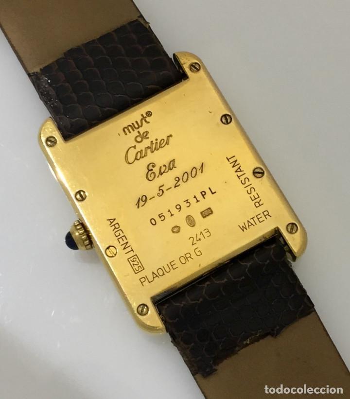 Relojes - Cartier: CARTIER TANK PLAQUÈ ORO 18KT -UNISEX ¡¡COMO NUEVO!! - Foto 5 - 198578313