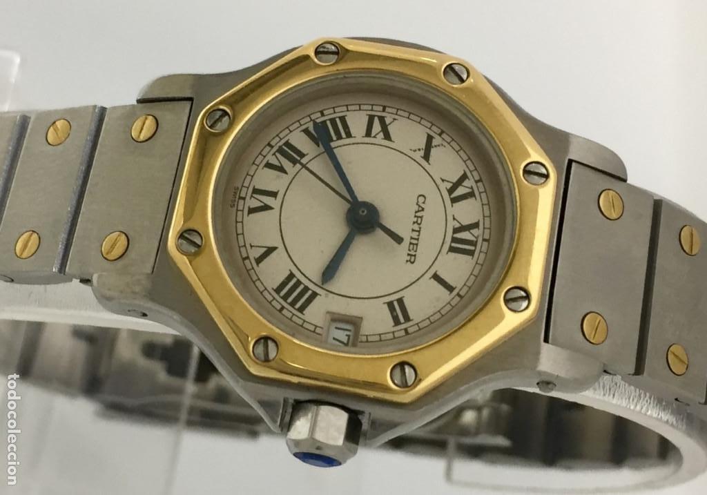 Relojes - Cartier: CARTIER SANTOS OCTOGON-ACERO Y ORO COMO NUEVO.MUJER. - Foto 3 - 198579208