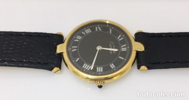 Relojes - Cartier: CARTIER PLATA PLAQUÈ ORO 18 KTS.UNISEX. - Foto 4 - 173172500