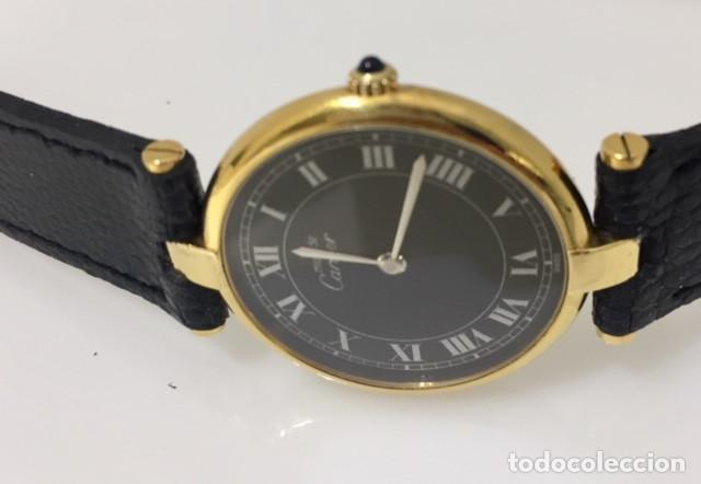 Relojes - Cartier: CARTIER PLATA PLAQUÈ ORO 18 KTS.UNISEX. - Foto 5 - 173172500