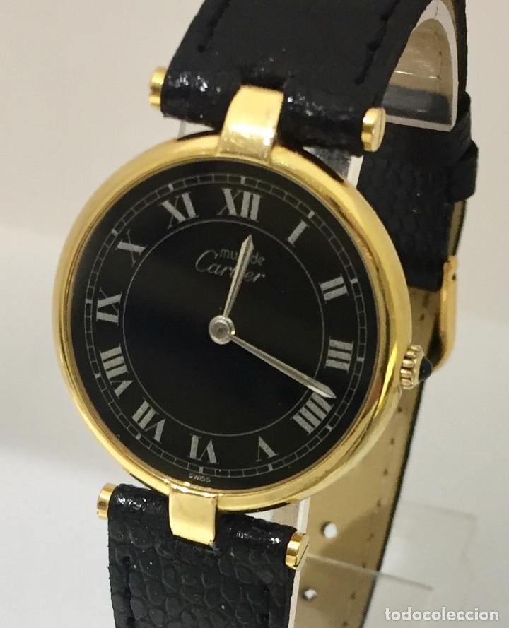 CARTIER PLATA PLAQUÈ ORO 18 KTS.UNISEX. (Relojes - Relojes Actuales - Cartier)