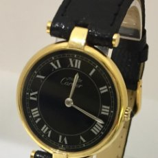 Relojes - Cartier: CARTIER PLATA PLAQUÈ ORO 18 KTS.UNISEX.. Lote 173172500