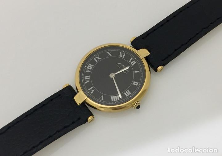 Relojes - Cartier: CARTIER PLATA PLAQUÈ ORO 18 KTS.UNISEX. - Foto 2 - 173172500