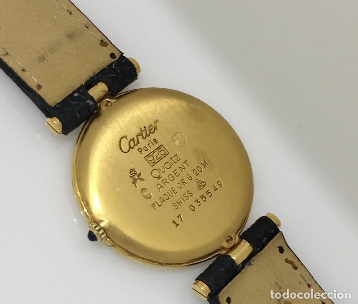 Relojes - Cartier: CARTIER PLATA PLAQUÈ ORO 18 KTS.UNISEX. - Foto 3 - 173172500