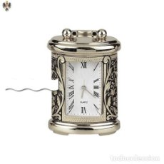 Relojes - Cartier: MINI RELOJ CARTIER DAMASQUINADO EN ACERO Y PLATA 925. Lote 201217502