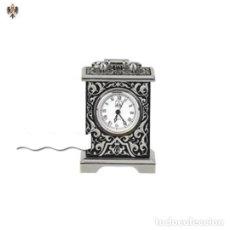 Relojes - Cartier: MINI RELOJ CARTIER DAMASQUINADO EN ACERO Y PLATA 925. Lote 201217815