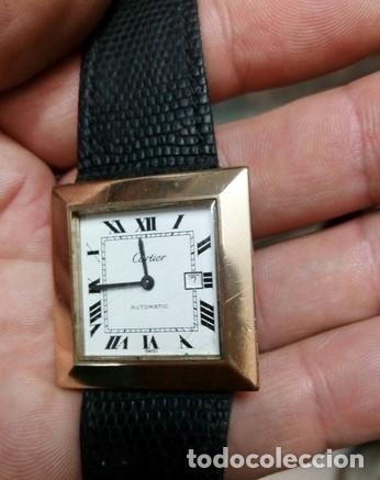RELOJ CARTIER SANTOS AUTOMATIC 2651 K1.RARO Y UNICO .HECHO EXCLUSIVO PARA CLIENTE (Relojes - Relojes Actuales - Cartier)