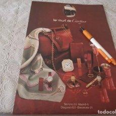 Relojes - Cartier: RELOJ LE MUST DE CARTIER ANTIGUO ANUNCIO PUBLICIDAD REVISTA. Lote 206771275