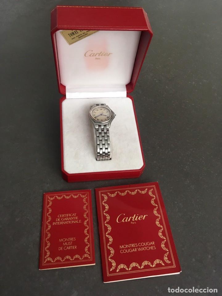 RELOJ CABALLERO COUGAR DE CARTIER EN PERFECTO ESTADO AL DÍA DE REVISIONES CON GARANTÍA Y DOCUMENTOS (Relojes - Relojes Actuales - Cartier)