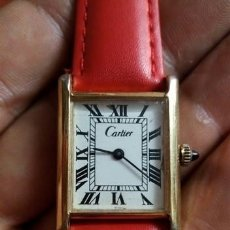 Relojes - Cartier: RELOJ SEÑORA CARTIER TANK..GOLD . 18 KT. ELECTROPLATED. . VINTAGE. Lote 209408500