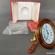 Relojes - Cartier: RELOJ CARTIER DE SOBREMESA EN CAJA , CARTIER TRAVEL DESK CLOCK , QUARTZ. Lote 214402346