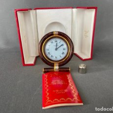 Montres - Cartier: RELOJ CARTIER DE SOBREMESA EN CAJA , CARTIER TRAVEL DESK CLOCK , QUARTZ. Lote 214402640