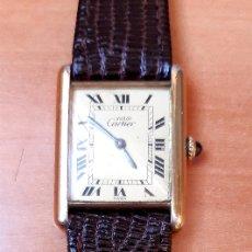 Relojes - Cartier: CARTIER -PLATA PLAQUÈ ORO 18KT 20 MICRAS-MUJER ( COMO NUEVO ). Lote 216586992