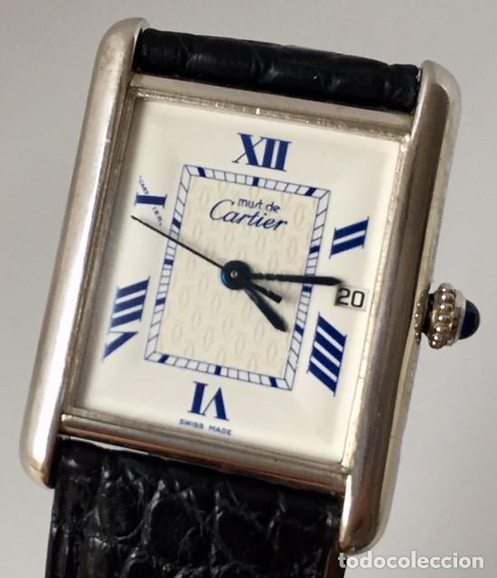 CARTIER THANK PLATA HOMBRE-UNISEX ¡¡COMO NUEVO!! (Relojes - Relojes Actuales - Cartier)