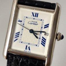 Relojes - Cartier: CARTIER THANK PLATA HOMBRE-UNISEX ¡¡COMO NUEVO!!. Lote 217396515