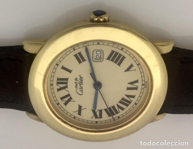 Relojes - Cartier: CARTIER MUST RONDE PLATA PLAQUÈ ORO 18Kts.¡¡COMO NUEVO!!HOMBRE-UNISEX - Foto 3 - 217570390