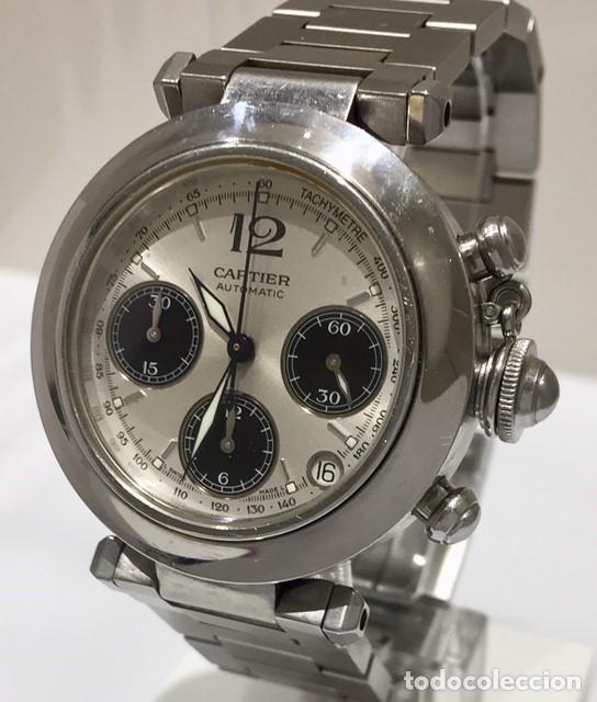 Relojes - Cartier: CARTIER PASHA CHRONO TRICOMPAS DATE-¡¡COMO NUEVO!! - Foto 3 - 71093193