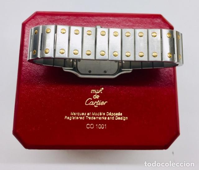 Relojes - Cartier: CARTIER SANTOS ORO-ACERO-MUJER !!COMO NUEVO!! - Foto 5 - 190044287