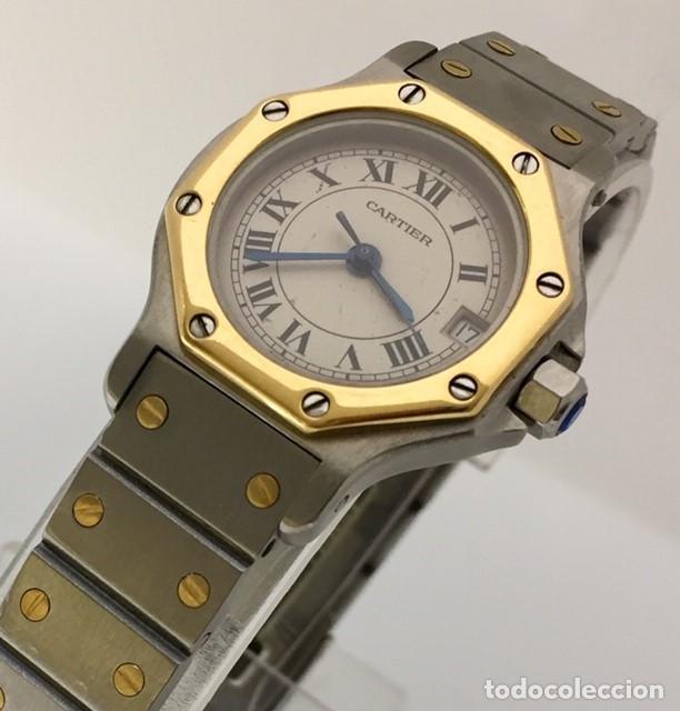 Relojes - Cartier: CARTIER SANTOS OCTOGON-ACERO Y ORO COMO NUEVO.MUJER. - Foto 4 - 198579208