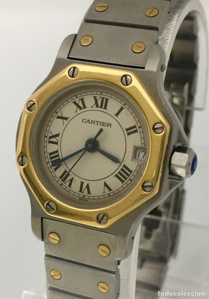 Relojes - Cartier: CARTIER SANTOS OCTOGON-ACERO Y ORO COMO NUEVO.MUJER. - Foto 5 - 198579208