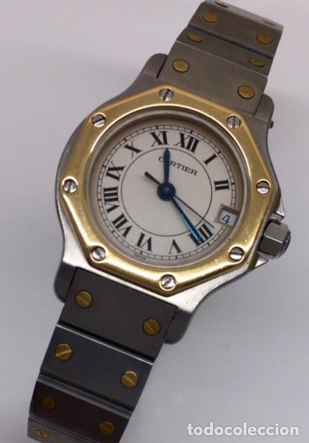 Relojes - Cartier: CARTIER SANTOS OCTOGON-ACERO Y ORO COMO NUEVO.MUJER. - Foto 2 - 198579208