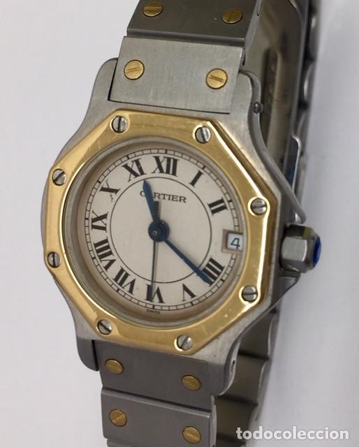 Relojes - Cartier: CARTIER SANTOS OCTOGON-ACERO Y ORO COMO NUEVO.MUJER. - Foto 6 - 198579208