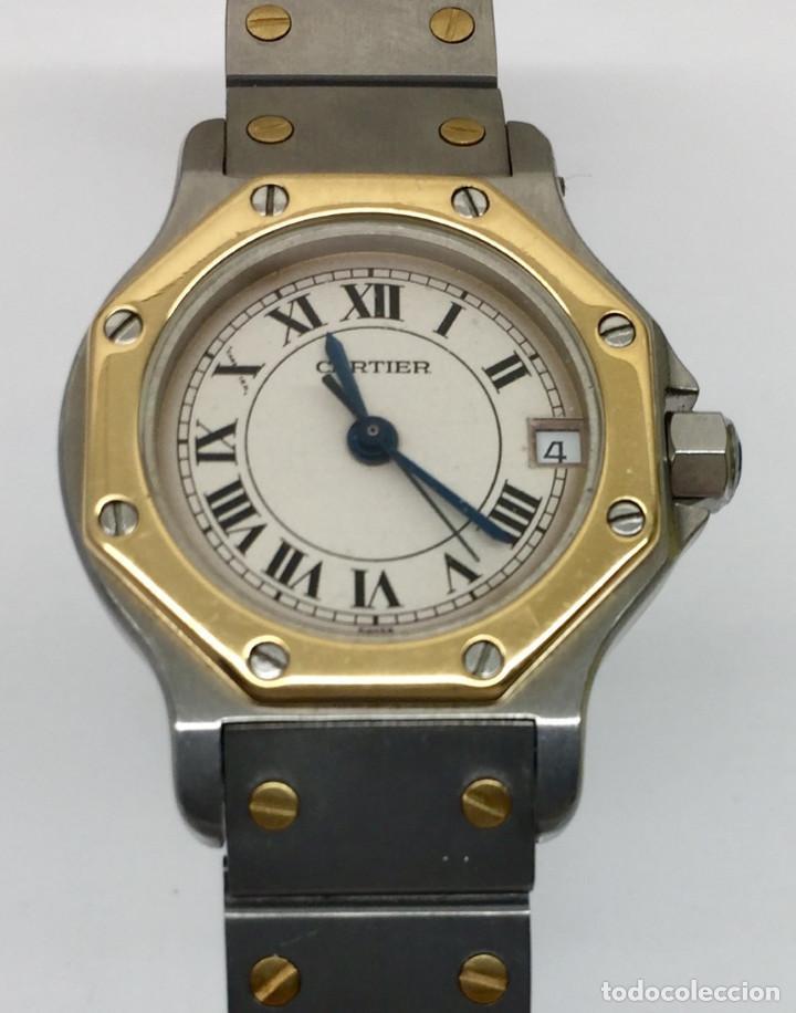 Relojes - Cartier: CARTIER SANTOS OCTOGON-ACERO Y ORO COMO NUEVO.MUJER. - Foto 7 - 198579208