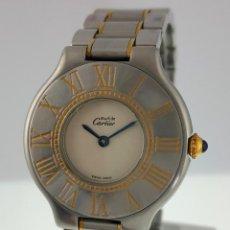 Relojes - Cartier: CARTIER MUST RONDE PLAQUÈ ORO-ACERO ¡¡COMO NUEVO!!. Lote 232653960