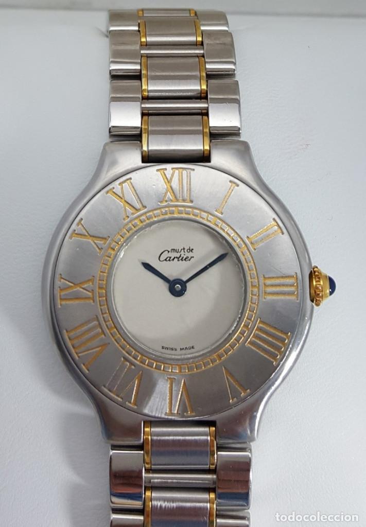 Relojes - Cartier: CARTIER MUST RONDE PLAQUÈ ORO-ACERO ¡¡COMO NUEVO!! - Foto 2 - 232653960