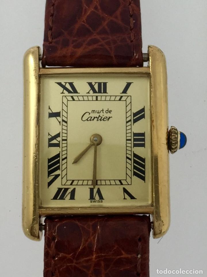 CARTIER TANK PLATA PLAQUÈ ORO 18KTS (Relojes - Relojes Actuales - Cartier)