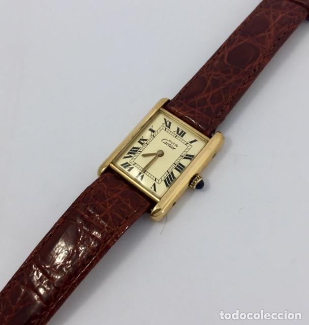 Relojes - Cartier: CARTIER TANK PLATA PLAQUÈ ORO 18KTS - Foto 2 - 232654120