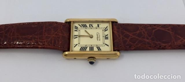 Relojes - Cartier: CARTIER TANK PLATA PLAQUÈ ORO 18KTS - Foto 3 - 232654120