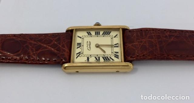 Relojes - Cartier: CARTIER TANK PLATA PLAQUÈ ORO 18KTS - Foto 4 - 232654120