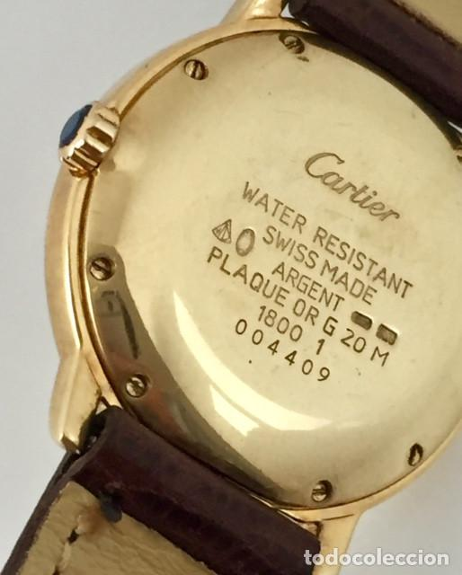 Relojes - Cartier: CARTIER RONDE DATE PLATA PLAQUÈ ORO 18KTS HOMBRE.COMO NUEVO - Foto 4 - 232658095