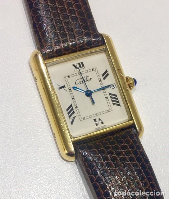 CARTIER TANK PLATA PLAQUÈ ORO 18KTS-HOMBRE-UNISEX (Relojes - Relojes Actuales - Cartier)