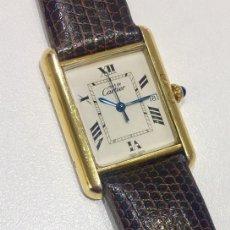Relojes - Cartier: CARTIER TANK PLATA PLAQUÈ ORO 18KTS-HOMBRE-UNISEX. Lote 237785680