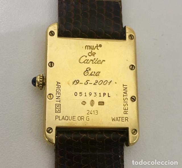 Relojes - Cartier: CARTIER TANK PLATA PLAQUÈ ORO 18KTS-HOMBRE-UNISEX - Foto 4 - 237785680
