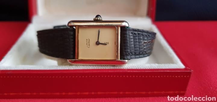 RELOJ CARTIER PARIS EN PLATA 925 CHAPADO 20 MICRAS CARGA MANUAL FUNCIONA BIEN.MIDE 22MMX29MM (Relojes - Relojes Actuales - Cartier)