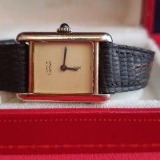 Orologi - Cartier: RELOJ CARTIER PARIS EN PLATA 925 CHAPADO 20 MICRAS CARGA MANUAL FUNCIONA BIEN.MIDE 22MMX29MM. Lote 266898959