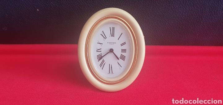 RELOJ SOBREMESA CARTUER PARIS CARGA MANUAL FUNCIONA PERFECTAMENTE .LAS MEDIDAS ESTA EN FOTOS (Relojes - Relojes Actuales - Cartier)