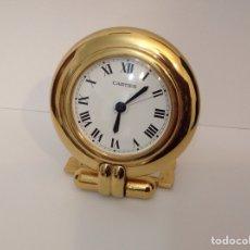 Relojes - Cartier: ESPECTACULAR RELOJ CARTIER SOBREMESA QUARTZ DESPERTADOR. Lote 243032990