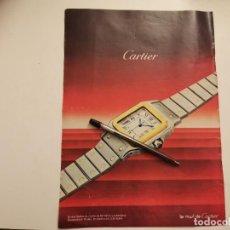 Relojes - Cartier: RELOJ CARTIER ANUNCIO PUBLICIDAD REVISTA AÑO 1985. Lote 246347090