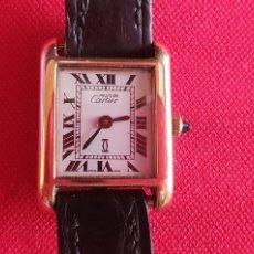 Relógios - Cartier: RELOJ MUST DE CARTIER DE CUERDA BAÑADO EN ORO 18 K NO FUNIONA .MIDE 22 MM DIÁMETRO. Lote 251163540
